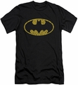 Batman Logo slim-fit t-shirt Word Logo mens black