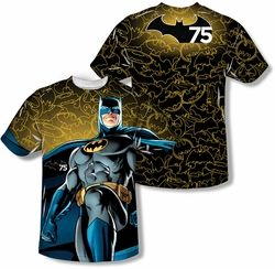 Batman mens full sublimation t-shirt 75 Glow