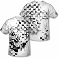 Batman mens full sublimation t-shirt Checkerboard Kick