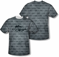 Batman mens full sublimation t-shirt Classic Bat Argyle