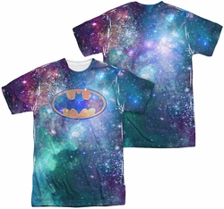 Batman mens full sublimation t-shirt Galaxy Symbol