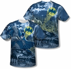 Batman mens full sublimation t-shirt Gotham Gargoyle