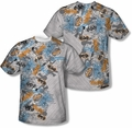 Batman mens full sublimation t-shirt Gotham Knight Sketchy