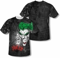 Batman mens full sublimation t-shirt Joker Sprays The City