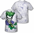 Batman mens full sublimation t-shirt Laugh Clown Laugh