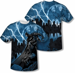 Batman mens full sublimation t-shirt Lightning Strikes