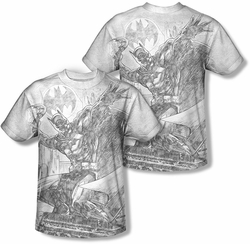 Batman mens full sublimation t-shirt Pencil Batarang Throw