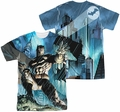 Batman mens full sublimation t-shirt Rainy Rooftop