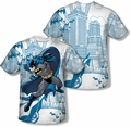 Batman mens full sublimation t-shirt Skyline All Over