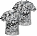Batman mens full sublimation t-shirt Tale Of The Dark Knight