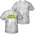 Batman mens full sublimation t-shirt Vintage Bat Strip