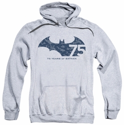Batman pull-over hoodie 75th Year Collage adult athletic heather