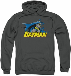 Batman pull-over hoodie 8 Bit Cape adult charcoal