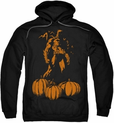 Batman pull-over hoodie A Bat Among Pumpkins adult black