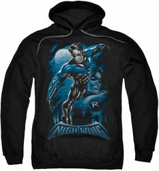 Nightwing pull-over hoodie All Grown Up adult black