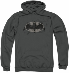 Batman pull-over hoodie Arcane Bat Logo adult charcoal