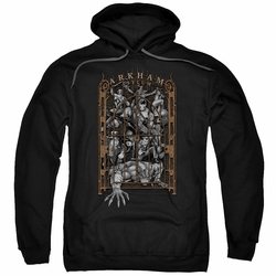 Batman pull-over hoodie Arkham'S Gate adult Black