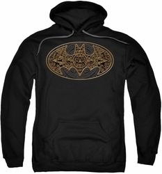Batman pull-over hoodie Aztec Bat Logo adult black
