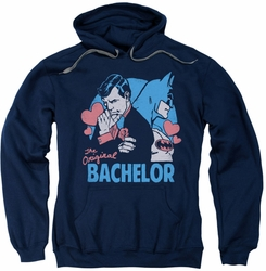Batman pull-over hoodie Bachelor adult navy