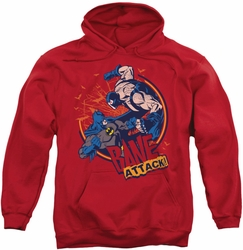 Batman pull-over hoodie Bane Attack! adult red