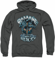 Batman pull-over hoodie Bane Will Break You adult charcoal