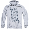 Batman pull-over hoodie Bat Card adult athletic heather