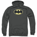 Batman pull-over hoodie Bat Chenille Patch adult charcoal