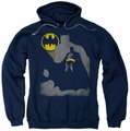 Batman pull-over hoodie Bat Knockout adult navy