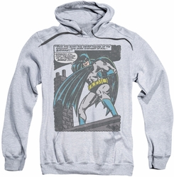 Batman pull-over hoodie Bat Origins adult athletic heather