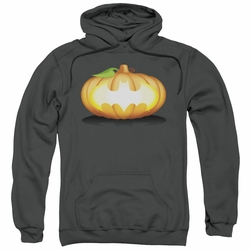 Batman pull-over hoodie Bat Pumpkin Logo adult charcoal