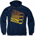 Batman pull-over hoodie Bat Signal Shapes adult navy