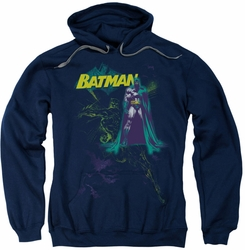 Batman pull-over hoodie Bat Spray adult navy