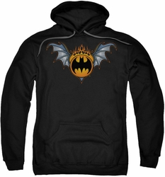 Batman pull-over hoodie Bat Wings Logo adult black