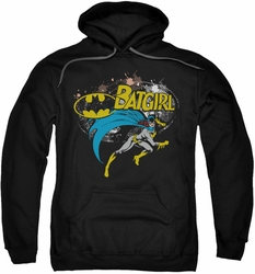 Batman pull-over hoodie Batgirl Halftone adult black