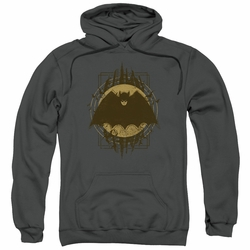 Batman pull-over hoodie Batman Crest adult Charcoal