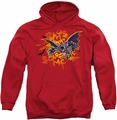 Batman pull-over hoodie Bats Don't Scare Me adult red
