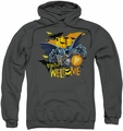 Batman pull-over hoodie Bats Welcome adult charcoal