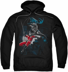 Batman pull-over hoodie Black And White adult black