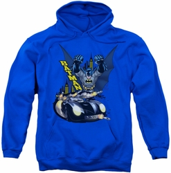 Batman pull-over hoodie By Air & By Land adult royal blue