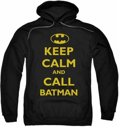 Batman pull-over hoodie Call Batman adult black