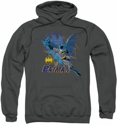 Batman pull-over hoodie Cape Outstretched adult charcoal
