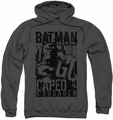 Batman pull-over hoodie Caped Crusader adult charcoal
