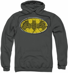 Batman pull-over hoodie Celtic Shield adult charcoal