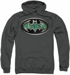 Batman pull-over hoodie Circuitry Shield adult charcoal