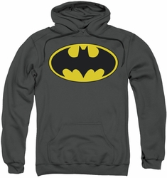Batman pull-over hoodie Classic Bat Logo adult charcoal