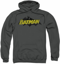 Batman pull-over hoodie Classic Comic Logo adult charcoal