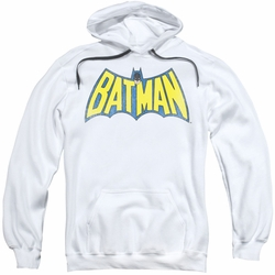 Batman pull-over hoodie Classic Logo adult white