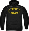 Batman pull-over hoodie Classic Logo Distressed adult black