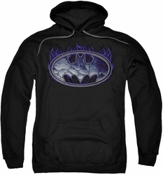 Batman pull-over hoodie Cracked Shield adult black