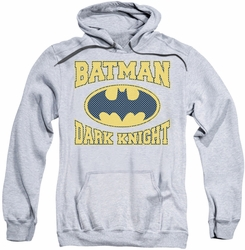 Batman pull-over hoodie Dark Knight Jersey adult athletic heather